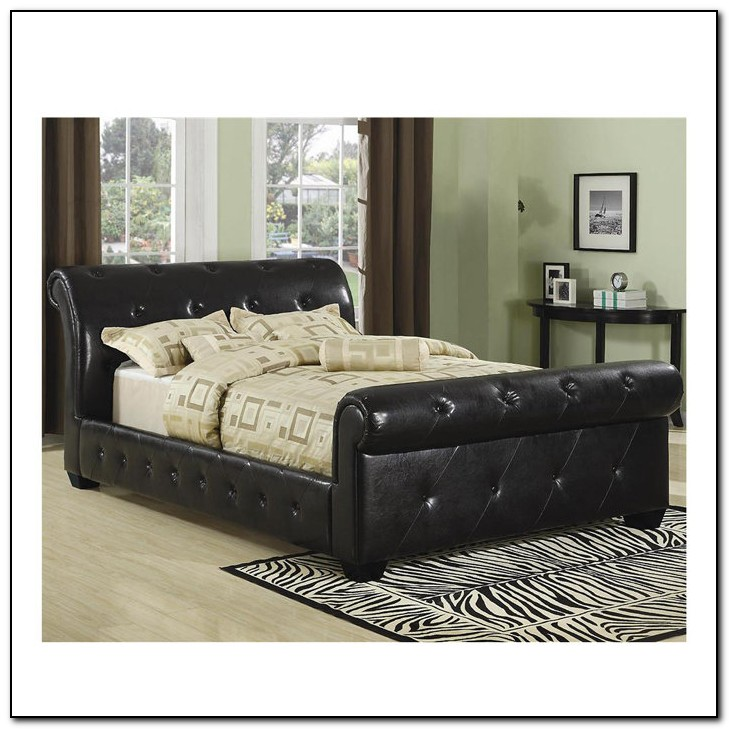 Tufted Sleigh Bed King