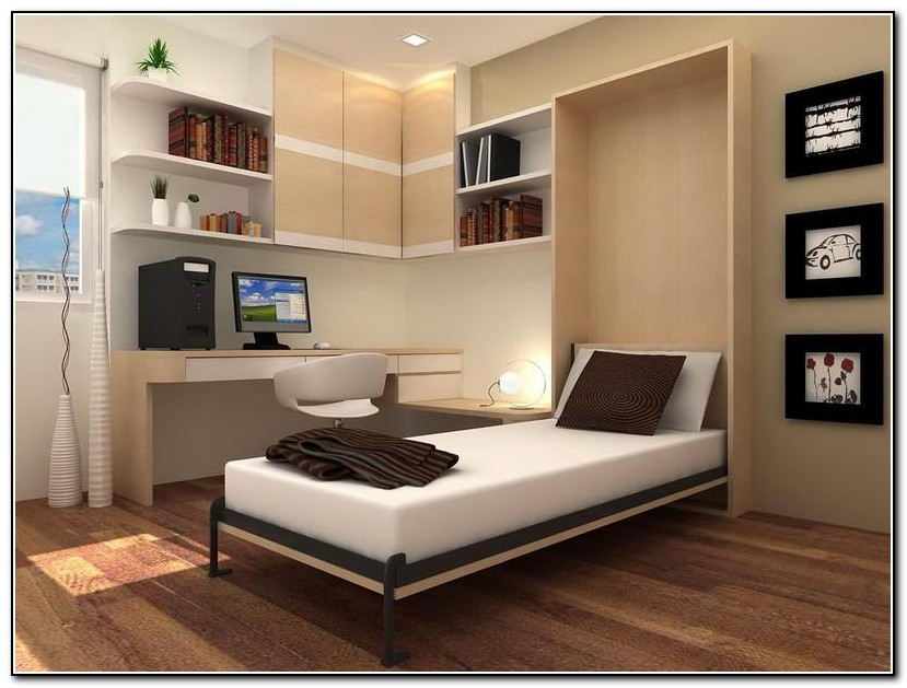 Twin Murphy Bed With Desk