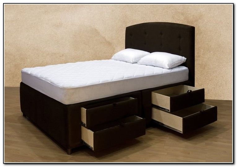 Upholstered Platform Bed With Storage