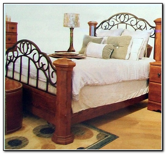 Wood And Rod Iron Beds