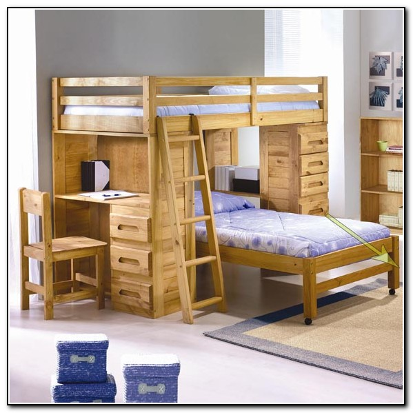 Wood Loft Bed Twin