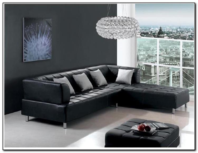 Black Leather Sofa Living Room Design