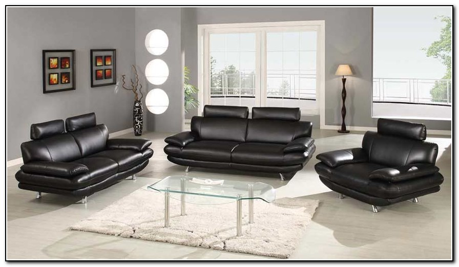 Black Leather Sofa Sets