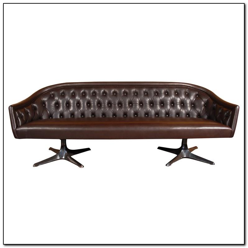 Button Tufted Leather Sofa