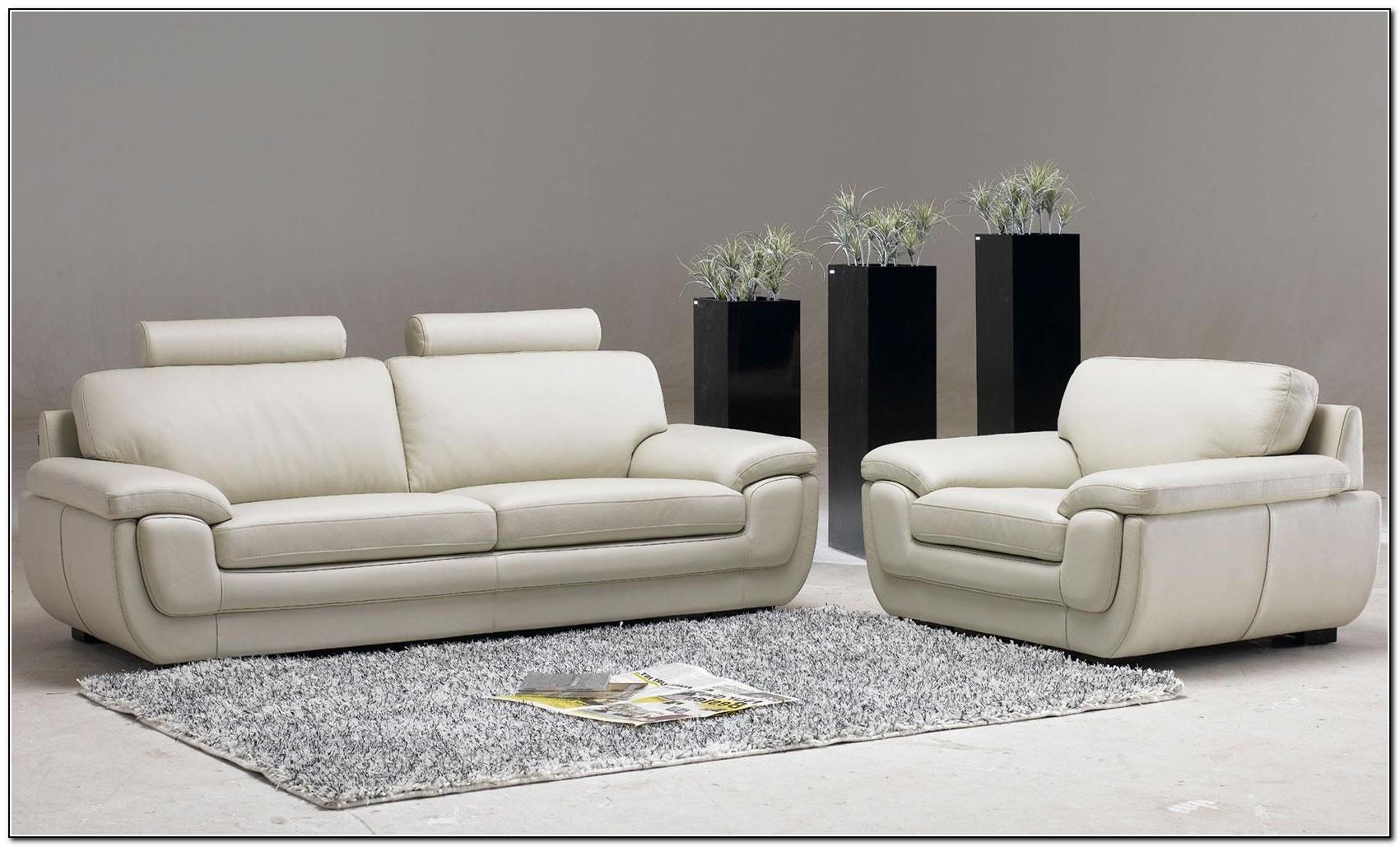 White Leather Sofa Living Room Design