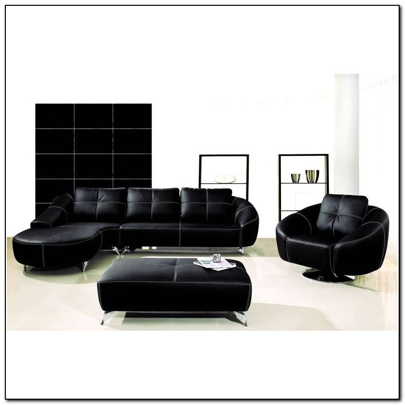 Black Sectional Sofa With Chaise