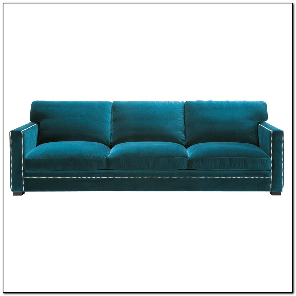Blue Velvet Sofa Fabric