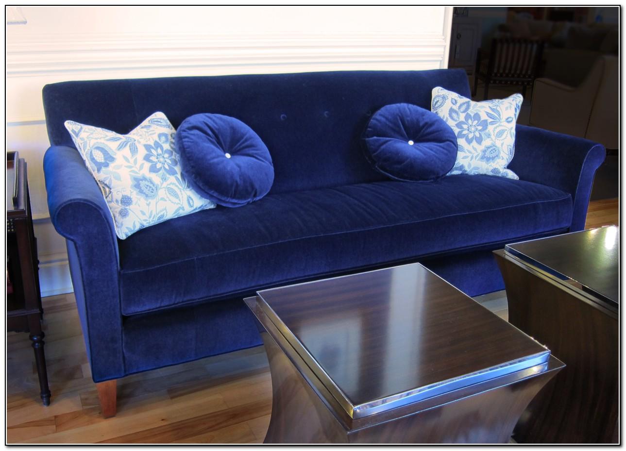 Blue Velvet Sofa Slipcover