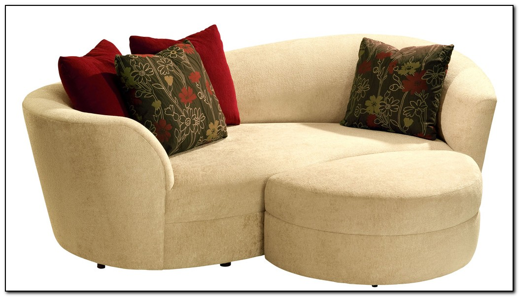 Curved Sectional Sofa With Ottoman