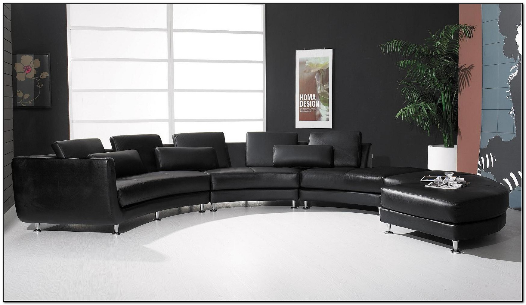 Modern Black Sectional Sofa
