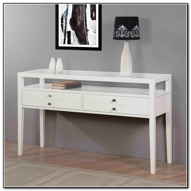 Modern White Sofa Table