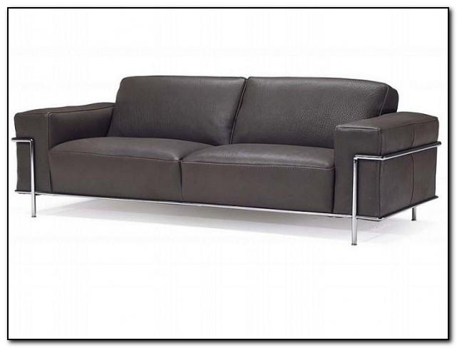 Natuzzi Distressed Leather Sofa