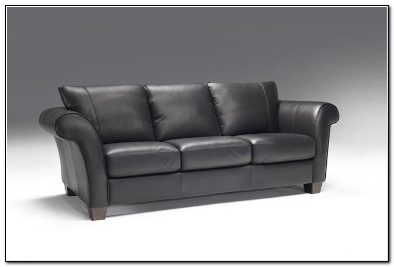Natuzzi Gray Leather Sofa