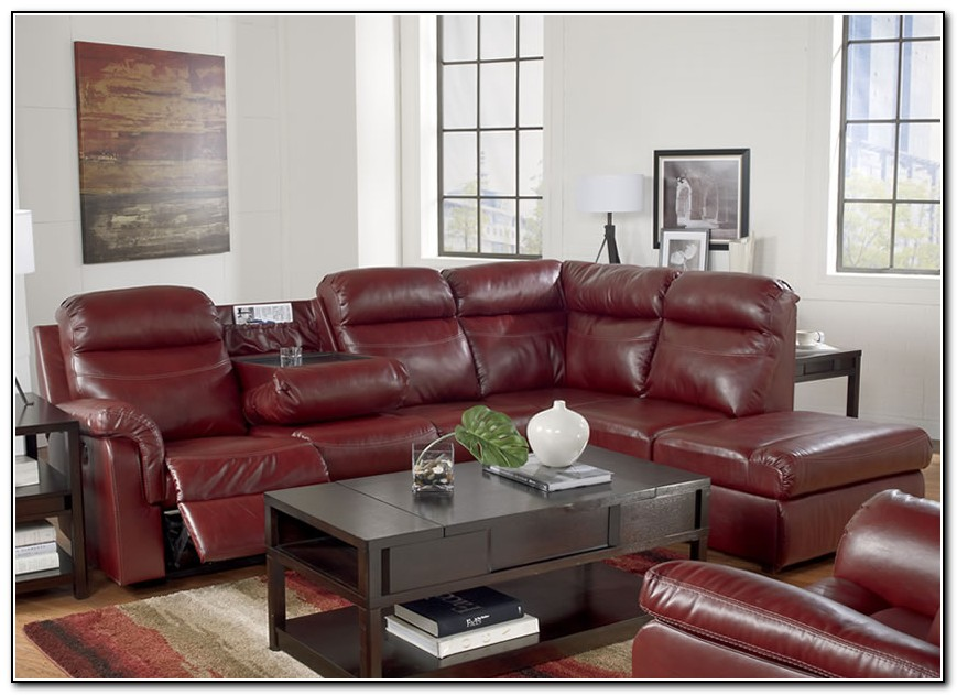 Red Reclining Sectional Sofa