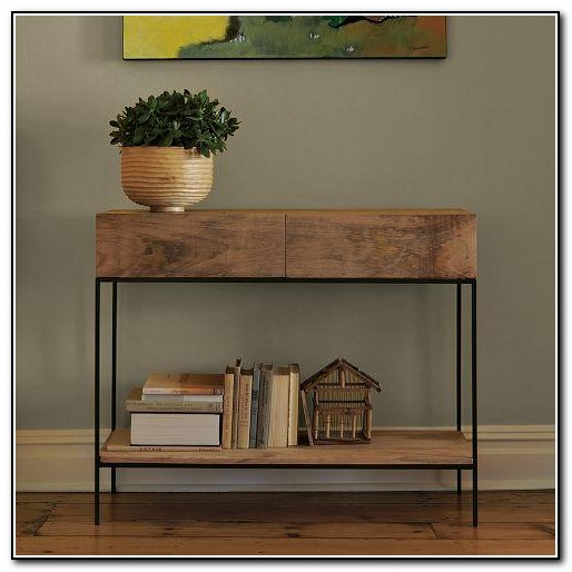 Rustic Sofa Table With Storage