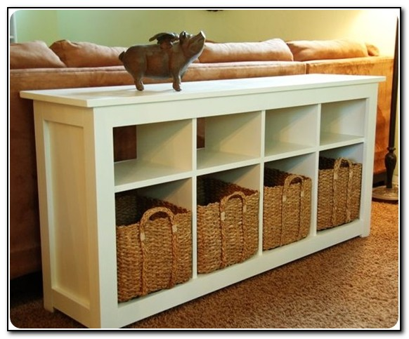 Sofa Table With Storage Bins