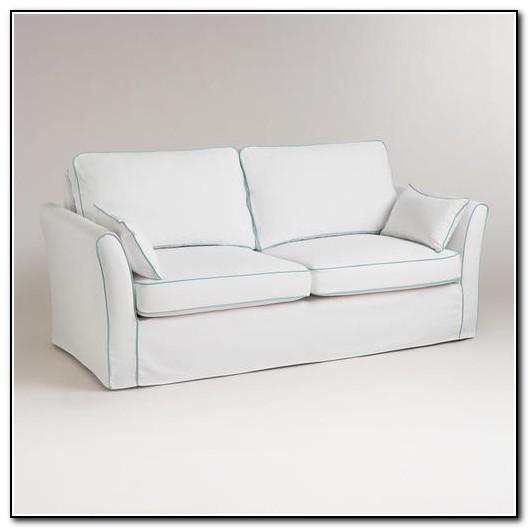 White Slip Covered Sofas
