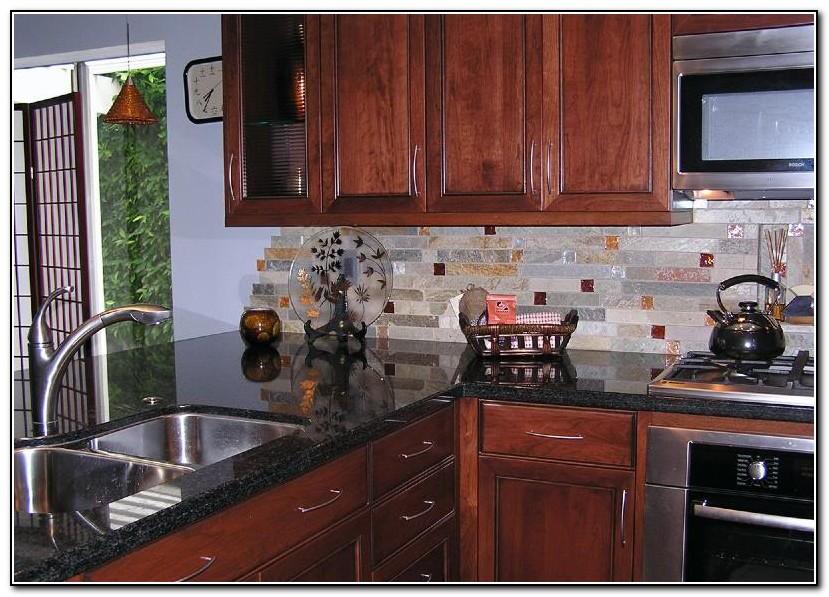 Kitchen Backsplash Tiles With Dark Cabinets