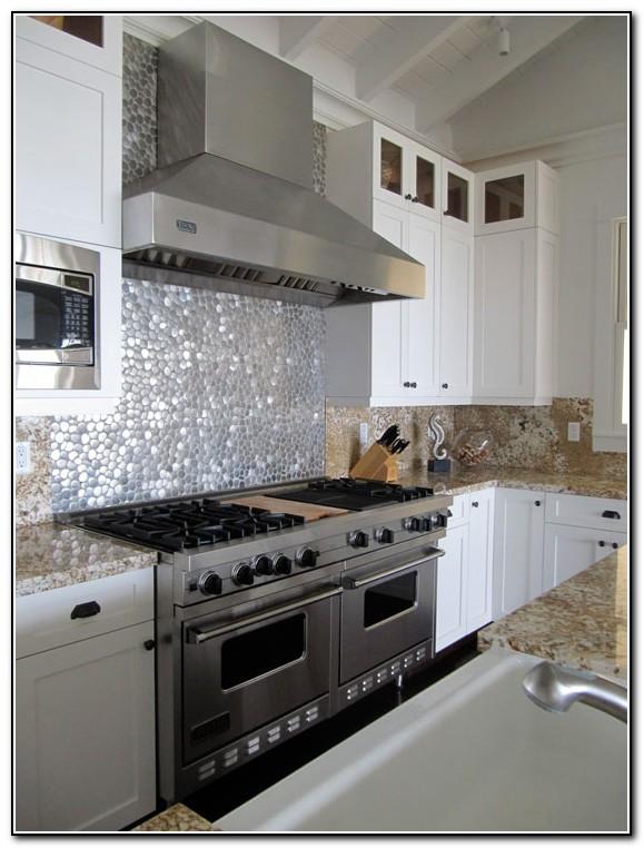 Metal Kitchen Backsplash Tiles