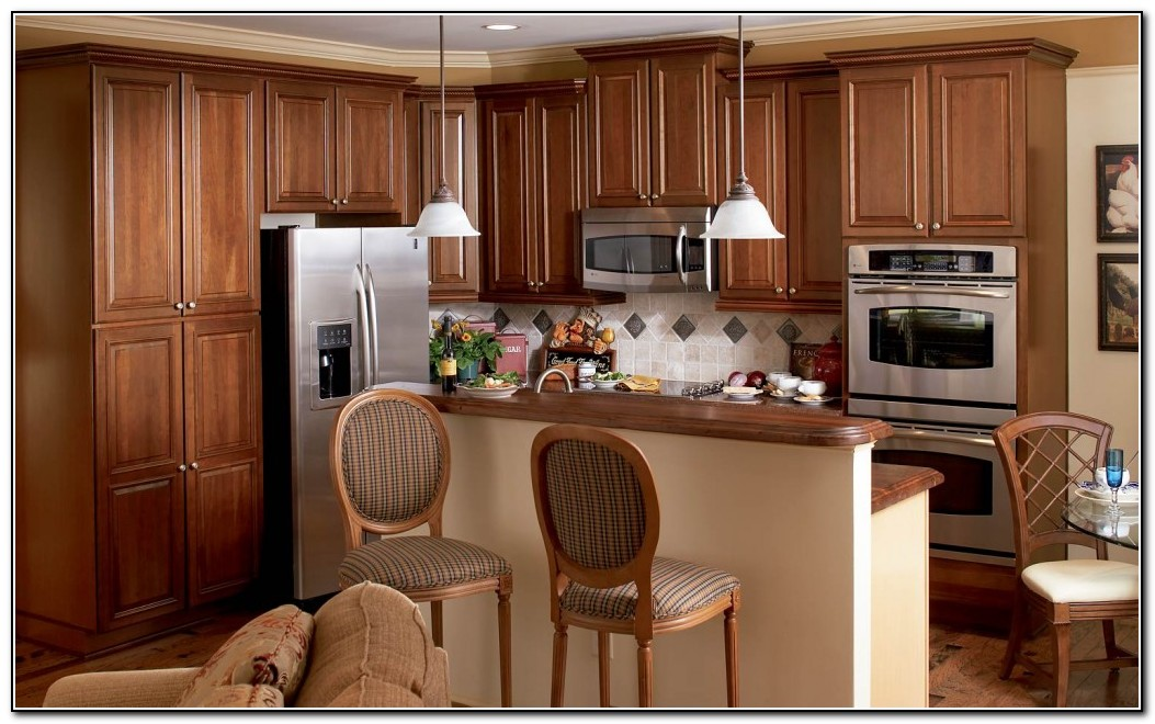 Cherry Kitchen Cabinets With Chocolate Glaze