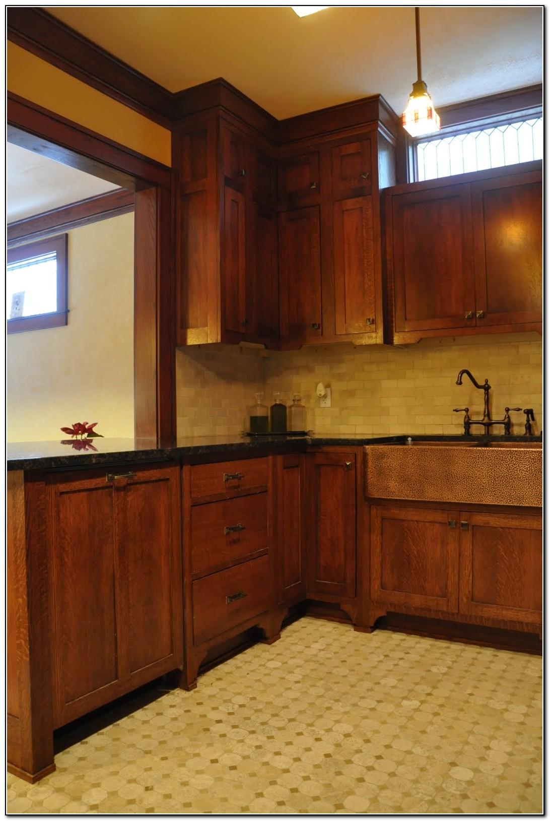 Quarter Sawn White Oak Kitchen Cabinets