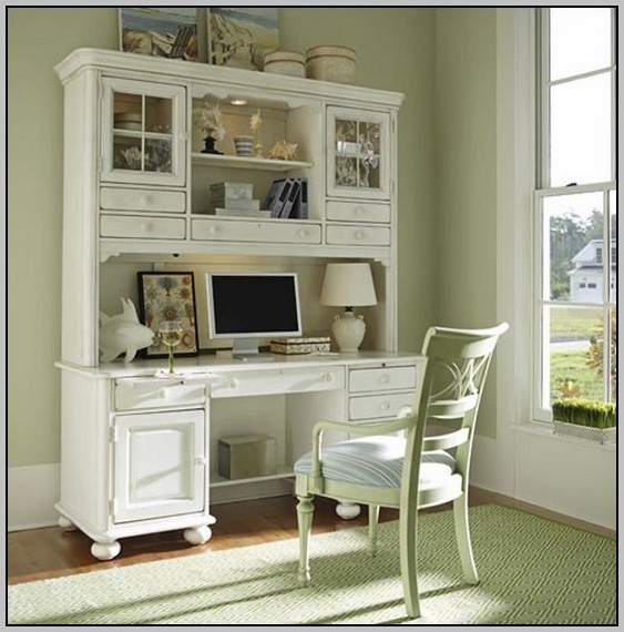 Antique Writing Desk With Hutch