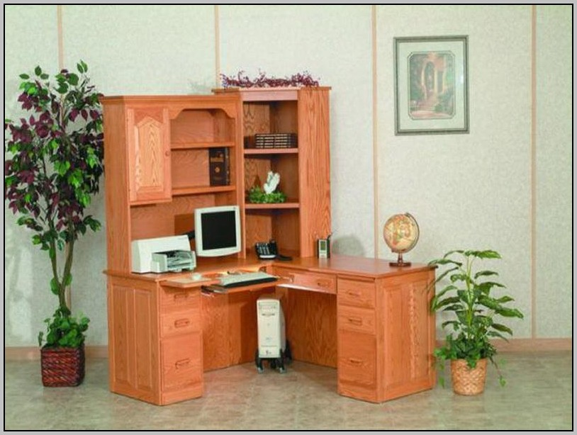 Corner Desk With Hutch Small