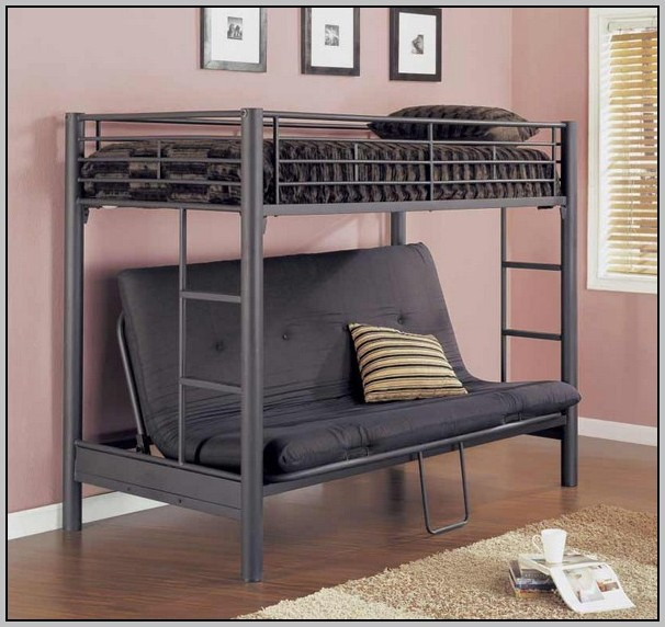 Full Size Loft Bed With Desk And Futon Chair