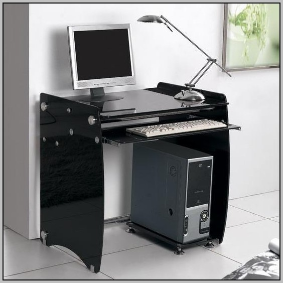 Glass Computer Desk Black