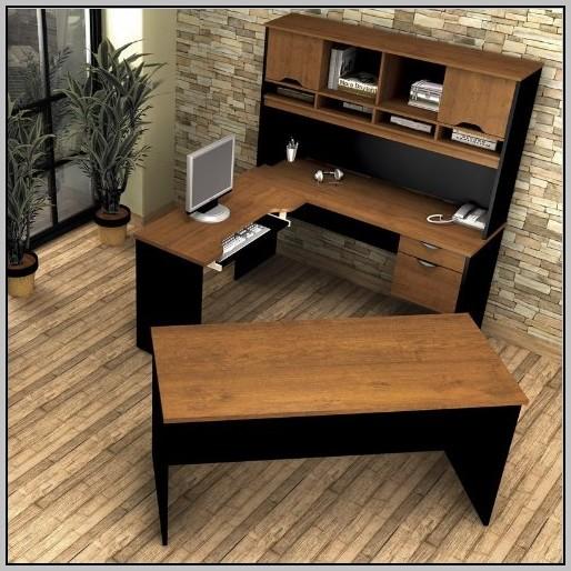 L Shaped Desk With Hutch Left Return