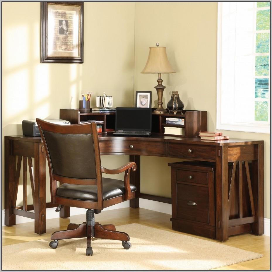 L Shaped Office Desk With Hutch For Home