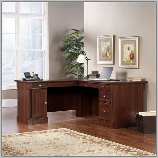 L Shaped Office Desk With Locking Drawers