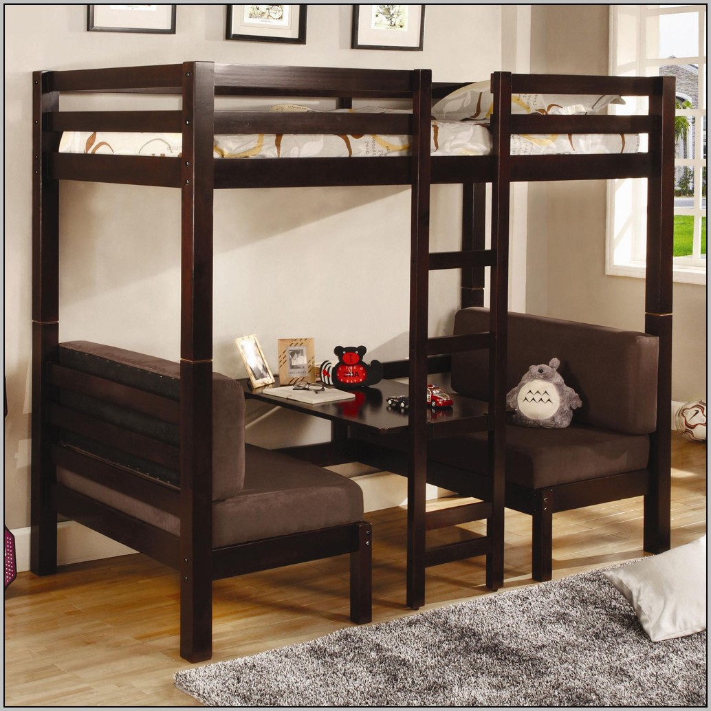 Loft Bed With Desk And Futon Chair