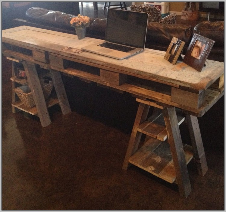 Reclaimed Wood Desk Table