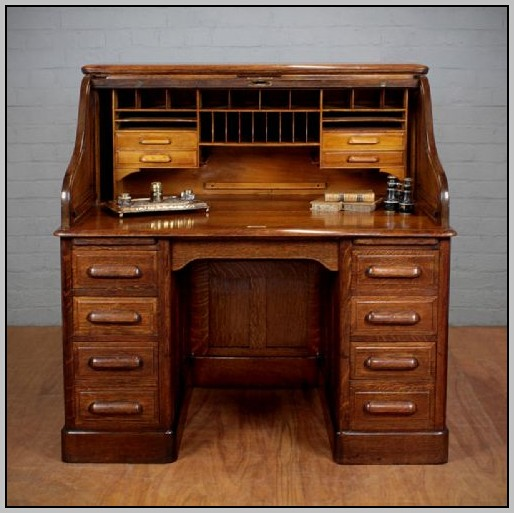 Roll Top Desk Oak