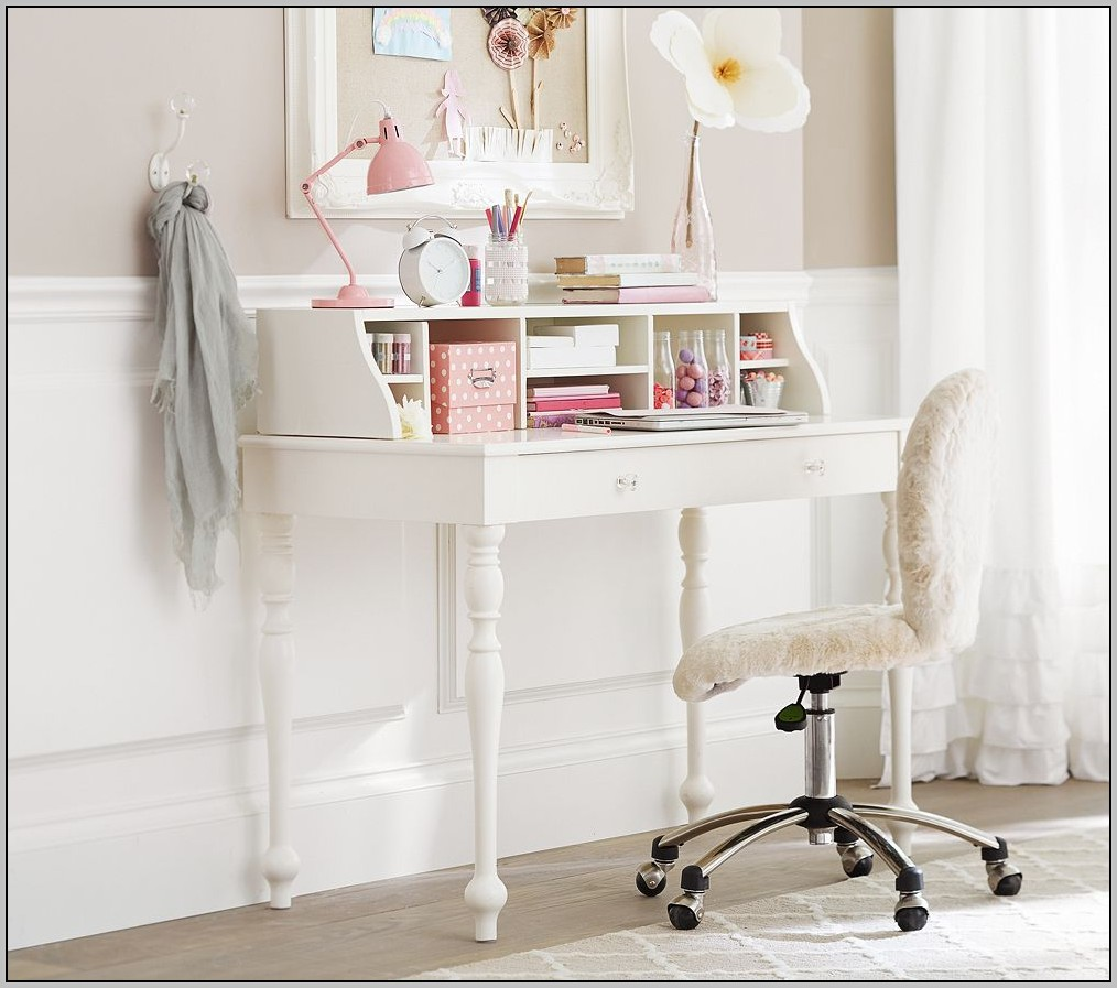 White Desk With Hutch For Girl
