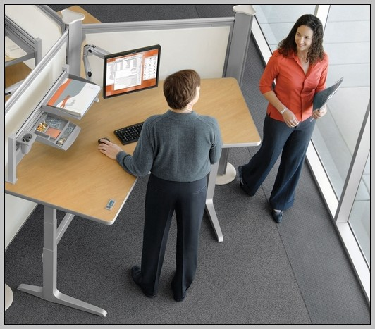 Adjustable Height Computer Desk Crank