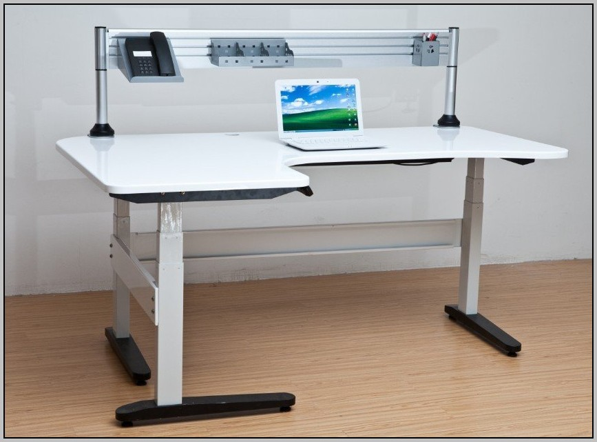 Adjustable Height Computer Desk Staples