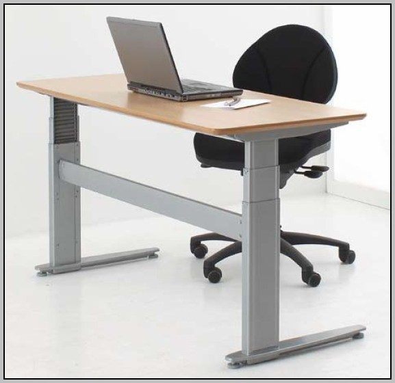Adjustable Height Computer Desk Workstation