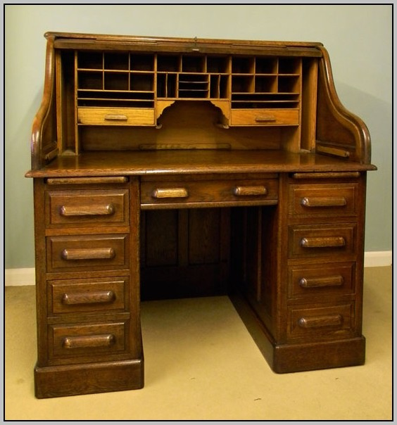Antique Roll Top Desk Chair