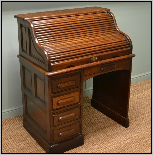 Antique Roll Top Desk Oak