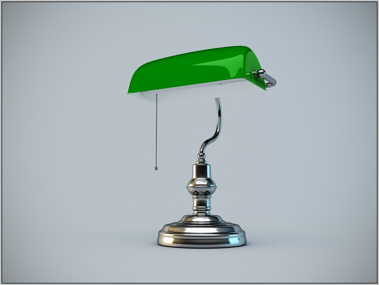 Bankers Desk Lamp Green Glass Shade