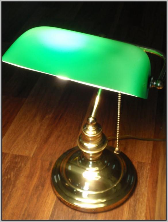 Bankers Desk Lamp Green