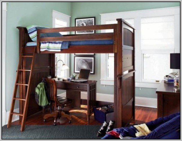 Bed With Desk Underneath Plans