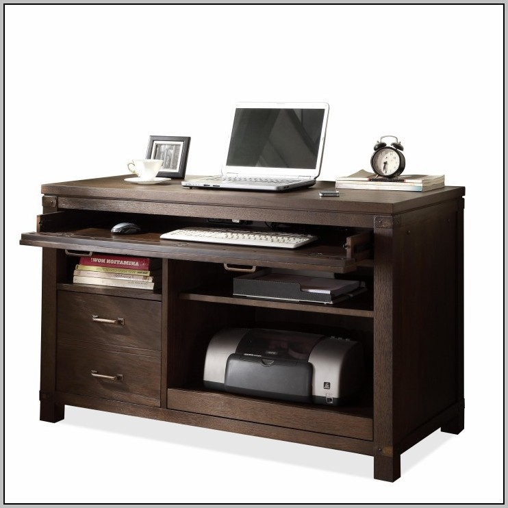 Black Desk With Drawers And Shelves