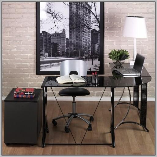 Black Glass Computer Desk Amazon