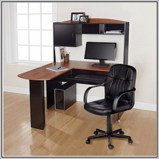 Black L Shaped Desk Office Depot