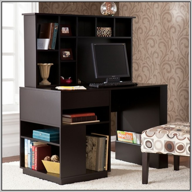 Black Student Desk With Hutch