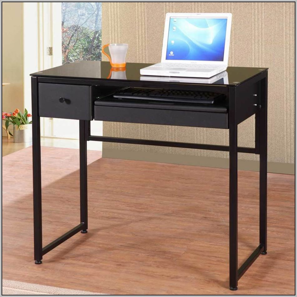 Black Wood Desk With Drawers