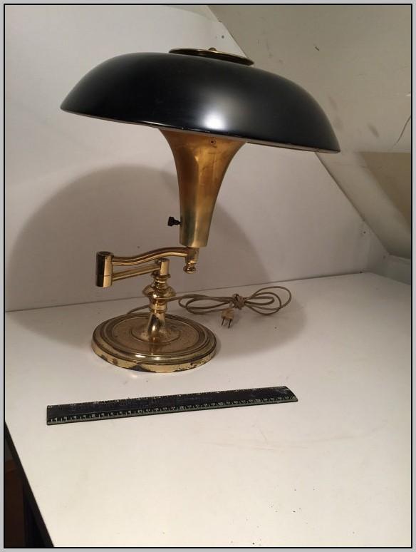 Brass Desk Lamps Black Shade